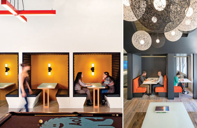 commercial interior design boston office booth twelve chairs boston
